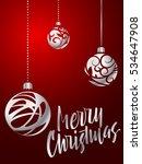 merry christmas lettering. hand ... | Shutterstock .eps vector #534647908