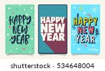 merry christmas and happy new... | Shutterstock .eps vector #534648004