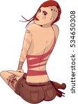 tattooed modern girl vector  ... | Shutterstock .eps vector #534650308