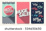 sale website mobile banner... | Shutterstock .eps vector #534650650
