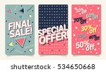 sale website mobile banner... | Shutterstock .eps vector #534650668
