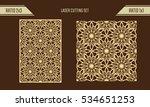diy laser cutting set. woodcut... | Shutterstock .eps vector #534651253
