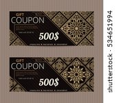 gift voucher in luxury style.... | Shutterstock .eps vector #534651994