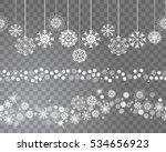seamless snowflakes border... | Shutterstock .eps vector #534656923