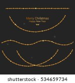 christmas gold garland  new... | Shutterstock .eps vector #534659734