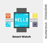 smart watch icon. material...