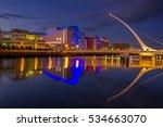 samuel beckett bridge in dublin  | Shutterstock . vector #534663070