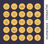 venture capital line icons set  ... | Shutterstock .eps vector #534664744