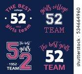 the best girls team college... | Shutterstock .eps vector #534664960