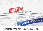 denied social security... | Shutterstock . vector #534667048