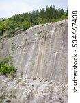 Rock Face In Former Limestone...
