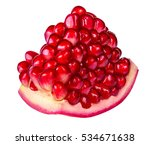 pomegranate isolated on white... | Shutterstock . vector #534671638