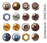 set of bolts and nuts | Shutterstock .eps vector #534673324
