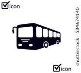 bus sign icon. public transport ... | Shutterstock .eps vector #534674140