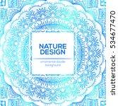 tribal mandala design set....   Shutterstock .eps vector #534677470