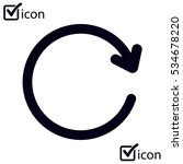 circular arrow sign vector icon. | Shutterstock .eps vector #534678220
