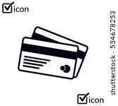 vector credit cards icon. flat...
