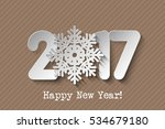 vector 2017 happy new year card ... | Shutterstock .eps vector #534679180