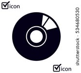 Cd Or Dvd Icon. Compact Disk...