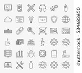 programming line icons set.... | Shutterstock .eps vector #534683650