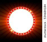 shining retro light banner on... | Shutterstock .eps vector #534684184