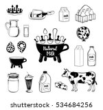 milk and creamery labels ... | Shutterstock .eps vector #534684256
