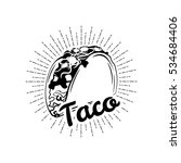 taco. mexico food. traditional... | Shutterstock .eps vector #534684406