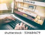 booking hotel travel traveler...   Shutterstock . vector #534684679
