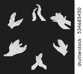 applause set clapping hands... | Shutterstock .eps vector #534685450