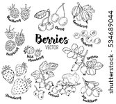 set of hand drawn vector...   Shutterstock .eps vector #534689044