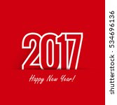 creative happy new year 2017... | Shutterstock .eps vector #534696136