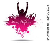 merry christmas background. | Shutterstock .eps vector #534701176