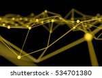 blockchain network   machine... | Shutterstock . vector #534701380