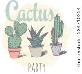 vintage cactus print for t... | Shutterstock . vector #534710254