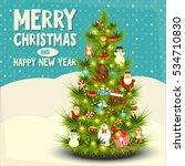 xmas and new year card.... | Shutterstock .eps vector #534710830