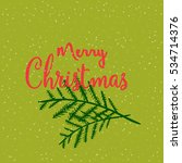 greeting card merry christmas....   Shutterstock .eps vector #534714376