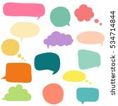 collection of colorful speech... | Shutterstock .eps vector #534714844