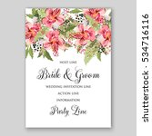 alstroemeria wedding invitation ... | Shutterstock .eps vector #534716116