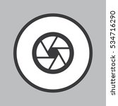 camera objective icon in white... | Shutterstock .eps vector #534716290