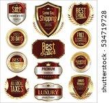 premium and luxury golden retro ... | Shutterstock .eps vector #534719728