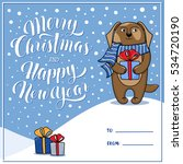 merry christmas and happy new... | Shutterstock .eps vector #534720190