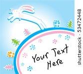 xmas greeting of bunny   Shutterstock .eps vector #53472448