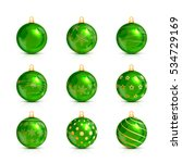 Set Of Decorative Green...