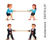 business man and woman... | Shutterstock .eps vector #534731119