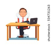 relaxed business man... | Shutterstock .eps vector #534731263