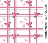 seamless romantic pattern with... | Shutterstock .eps vector #534732328