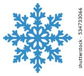 Blue Snowflake Isolated On...