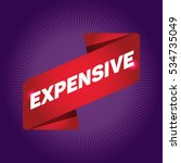 expensive arrow tag sign. | Shutterstock .eps vector #534735049