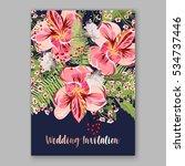 alstroemeria wedding invitation ... | Shutterstock .eps vector #534737446