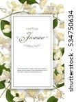 vector elegant jasmine flower... | Shutterstock .eps vector #534750634